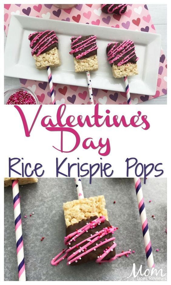 Super Easy Valentine's Rice Krispie Pops
