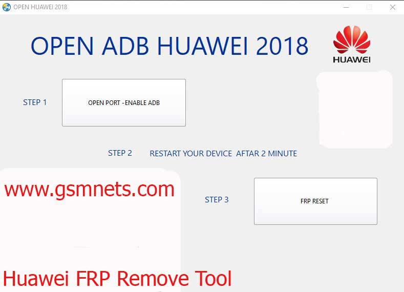 Huawei FRP Remove Tool 2018 Download