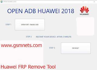 Huawei FRP Remove Tool 2018