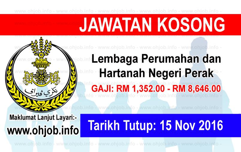 Jawatan Kerja Kosong Lembaga Perumahan dan Hartanah Negeri Perak logo www.ohjob.info november 2016