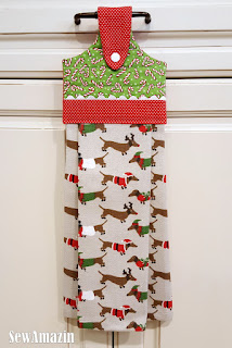 Christmas Dogs Hanging Kitchen Tea Towels