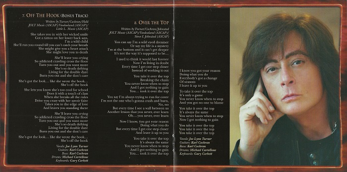 JOE LYNN TURNER - Second Hand Life [Deluxe Edition +3] booklet