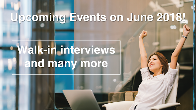 Upcoming Events to watch out for on June 2018