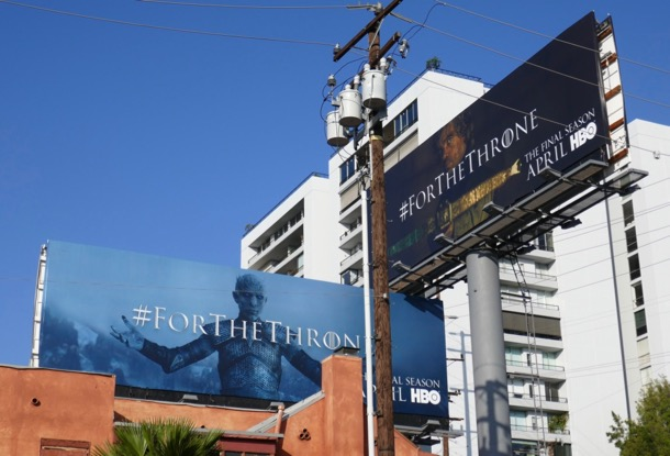 Game of Thrones final season teaser billboards