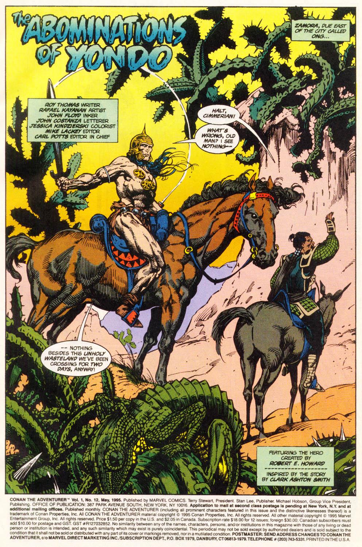 Read online Conan the Adventurer comic -  Issue #12 - 2