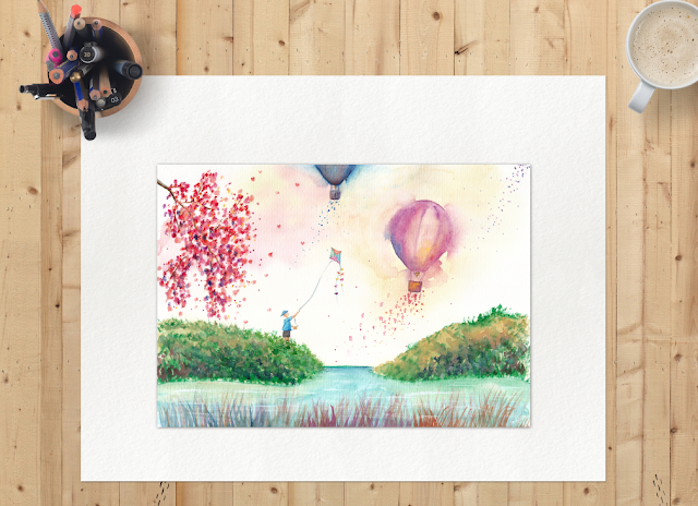 A Happy Day Watercolor Painting