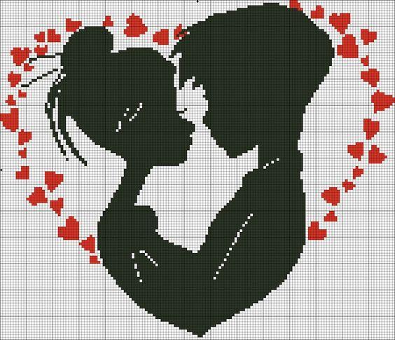 Dia dos Namorados Especial Em Ponto Cruz Com Gráficos67