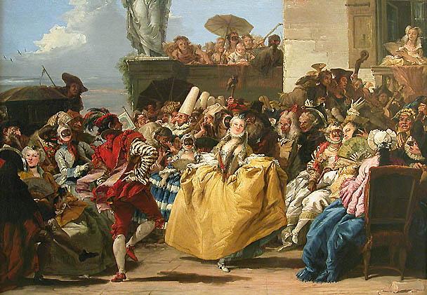 Giovanni Domenico Tiepolo - Escena de Carnaval (El Minueto) - 1754-55