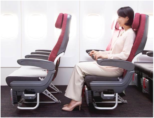 JAL SKY WIDER has a seat pitch of 84cm - 86cm.