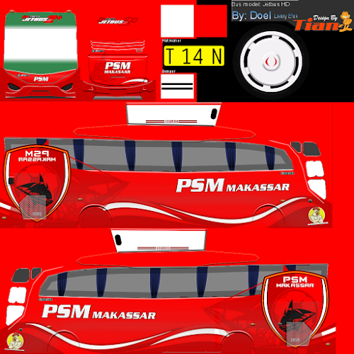 Custom Indonesia: custom livery idbs bus simulator