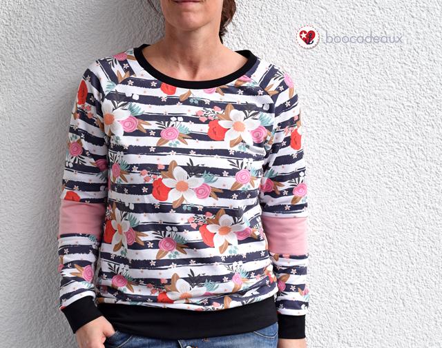 Sweater Billund von Pech und Schwefel aus Blossom Stripes Sommersweat von Alles für Selbermacher