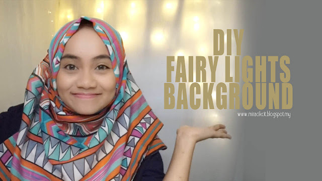 DIY Fairy Lights Background / Backdrop