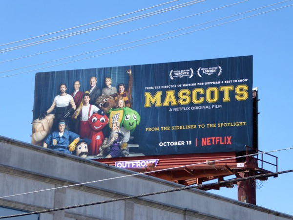 Mascots movie billboard