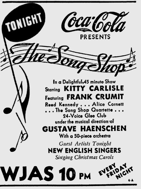 OTR Advertisements: Song Shop (Coca-Cola)
