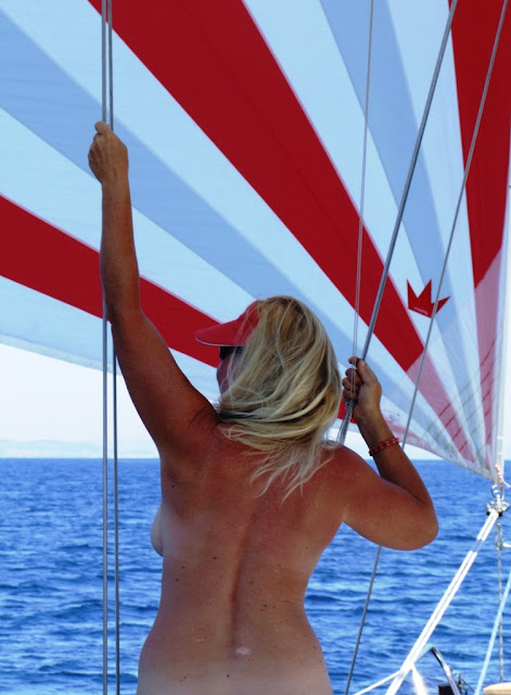 Dreamtime Sail: Some Naked Sailing - Just the two of us