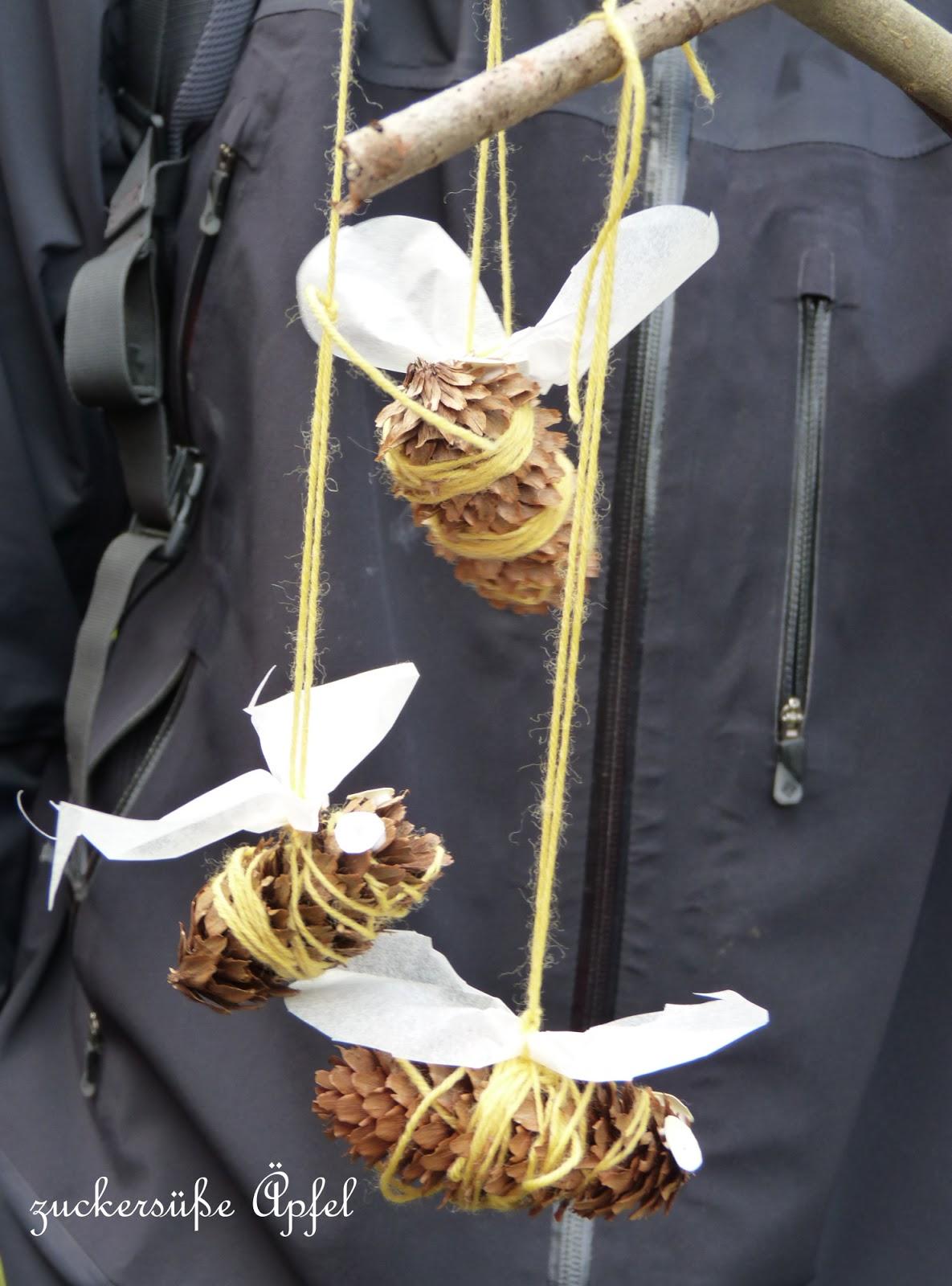 Susse Bienen Aus Zapfen Selber Machen Zuckersusse Apfel
