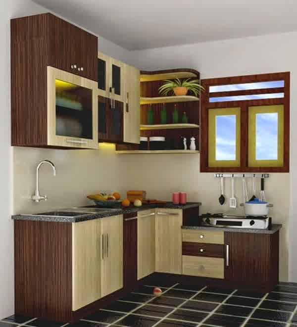 Contoh dapur sederhana yang elegan dan nyaman