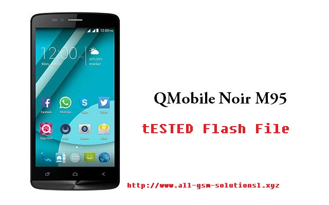 Qmobile m95 flash file