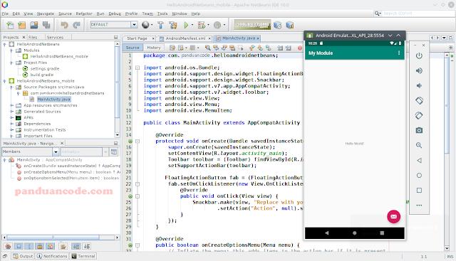Menjalankan aplikasi Android di Emulator