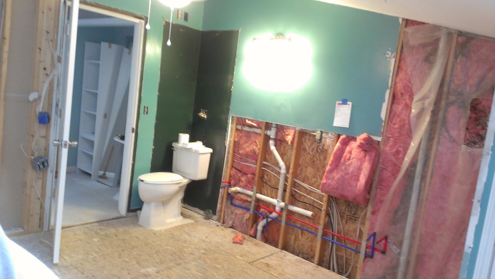 Lighting Basement Washroom Stairs: KeriING ON: Plumbing...continues