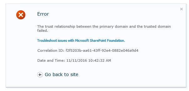 SharePoint Trenches: Trust failed error when browsing the