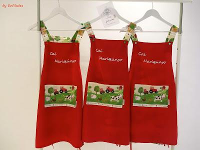 Davantals fets a mà i personalitzats carnisseria by Enfilades.cat