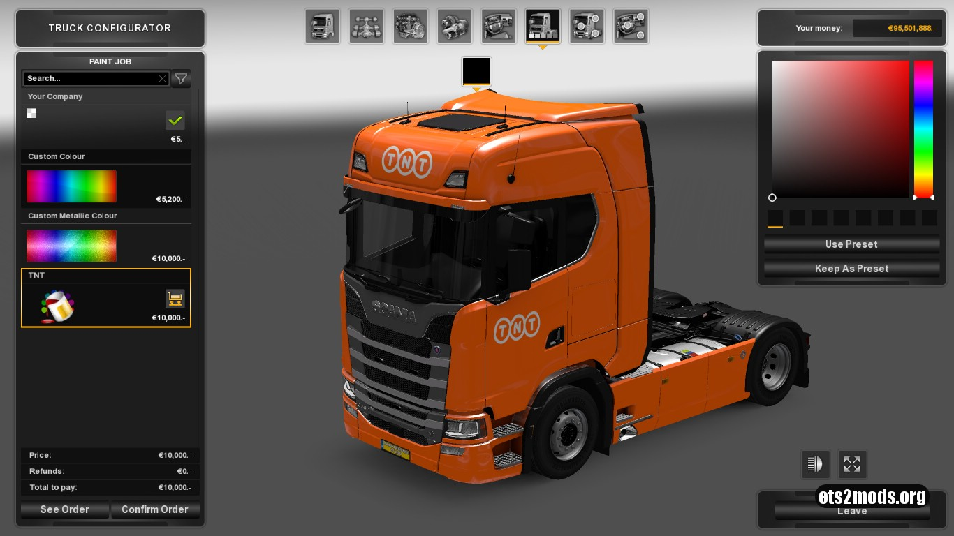 TNT Skin for Scania S580