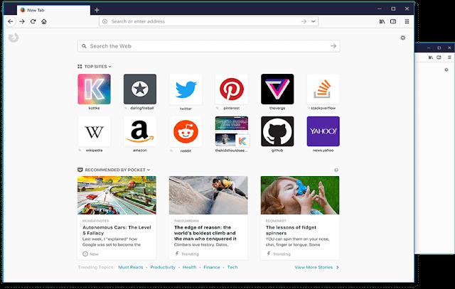 صور ومعلومات هامة عن المتصفح الجديد لموزيلا فايرفوكس Firefox Quantum ورابط التحميل