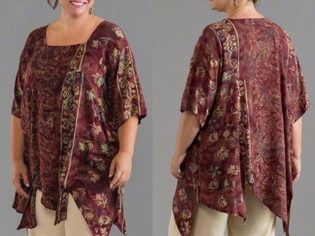 Cara Memilih Model Baju Batik Wanita Gemuk
