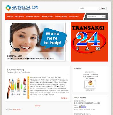 Jasa Pembuatan Website Pulsa