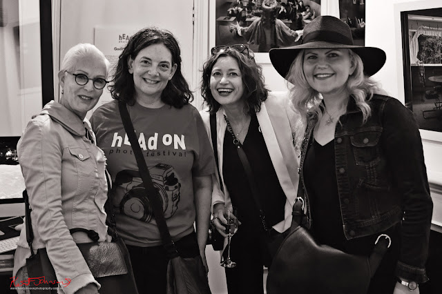 Roni Ben Ari, Anita Schwartz, Dina Goldstein, Jennifer Greenburg at Lyons Gallery Photo by Kent Johnson for Street Fashion Sydney.