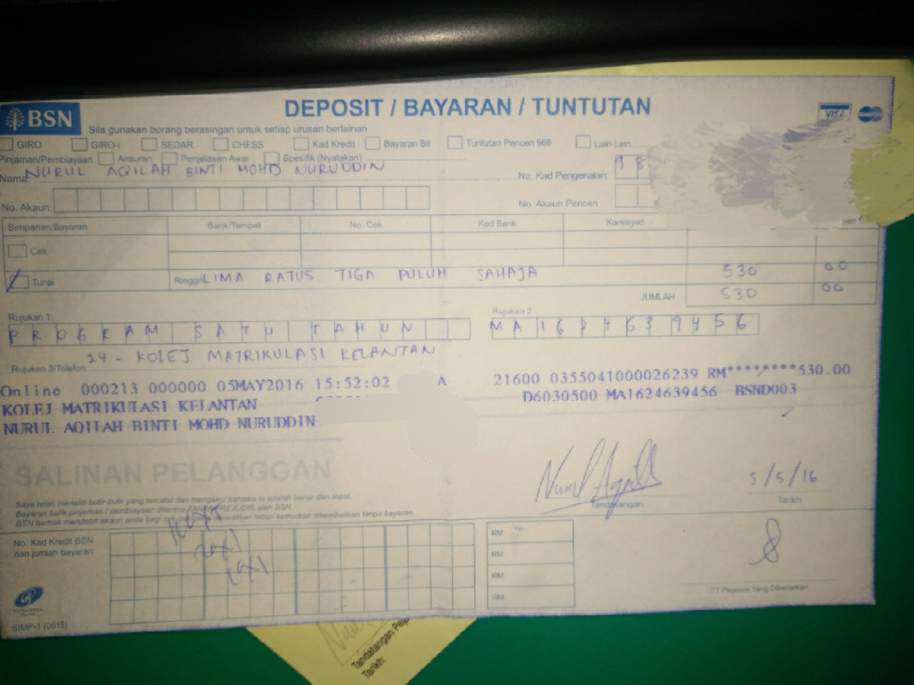 Cerita Si Aqilah Kolej Matrikulasi Kelantan