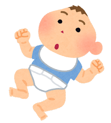 小頭症の新生児のイラスト