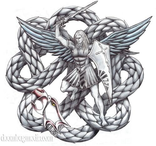 Saint Michael Tattoo Archangel Michael Tattoo Stencil