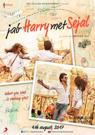 Jab Harry Met Sejal 2017 DVDRip 400Mb Full Hindi Movie Download 480p Watch Online Free Worldfree4u 9xmovies
