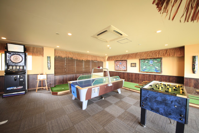 ダーツ・エアホッケー・室内パターゴルフなどをご用意(無料)