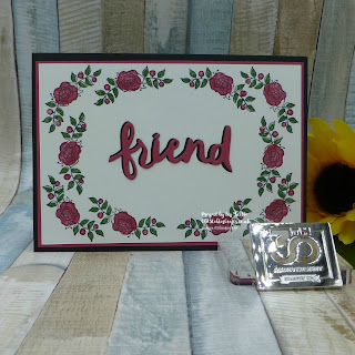 Lots of Lavender Rose Friend Card