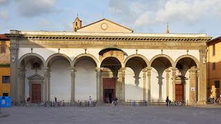 Giovanni Caccini's facade of the church of Santissima Annunziata
