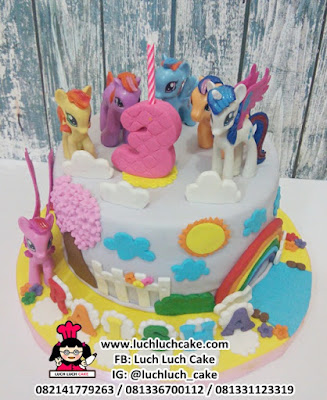 Fondant Birthday Cake My Little Pony