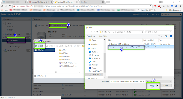 Cara Upload File .ISO ke  Datastore di VMware dengan Web Browser