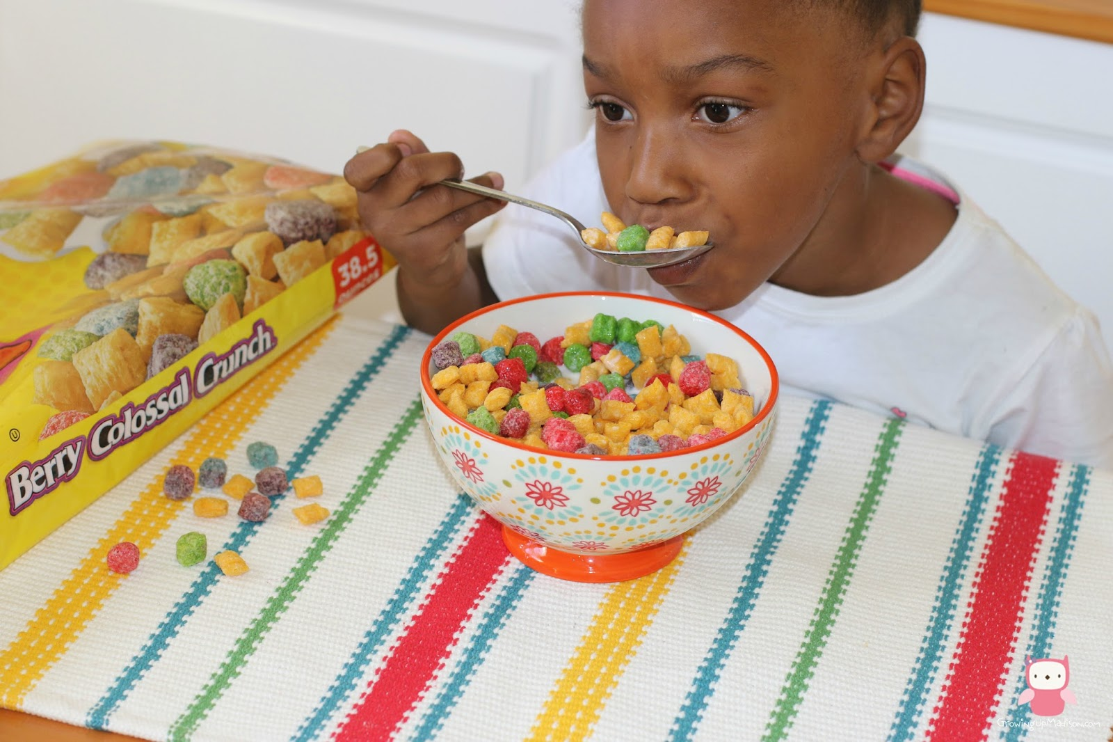 Child Eating Cereal