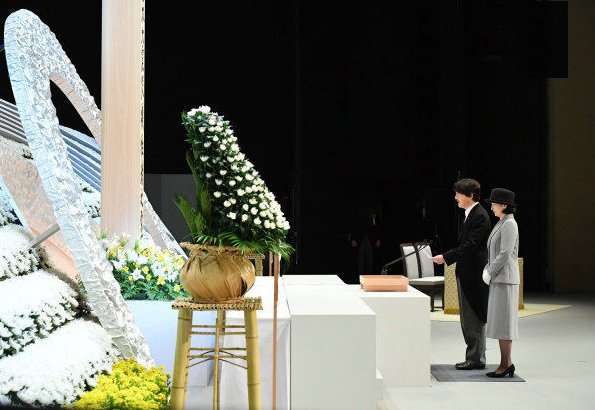 Prince Akishino and Princess Kiko attended the seventh national memorial service for victims of 2011 earthquake and tsunami disaster in Tokyo
