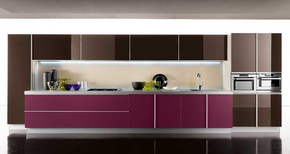Cocinas lineales grandes y pequeas  Cocinas con estilo