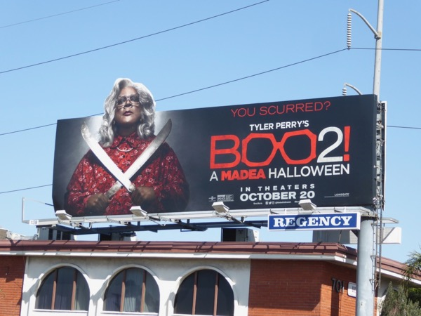 Boo 2 Madea Halloween special extension billboard