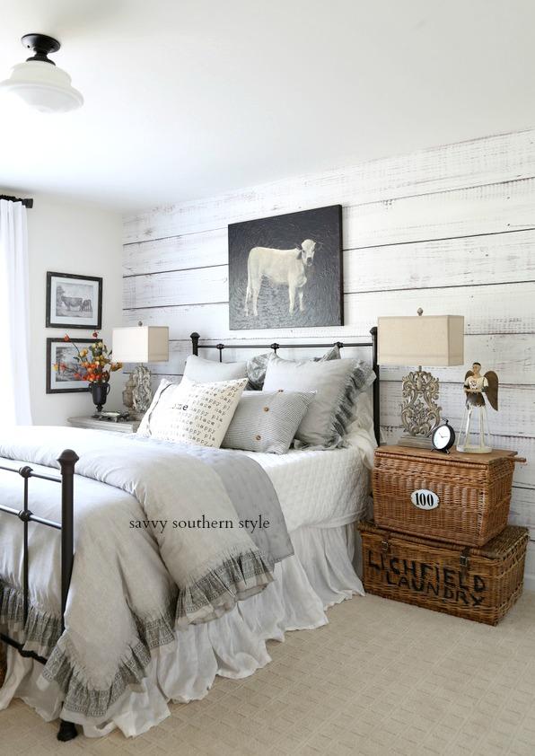 Southern Farmhouse Bedroom Ideas: Savvy Southern Style : French Farmhouse Style Fall Bedroom