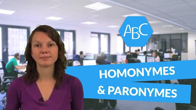 HOMONYMES, SYNONYMES, ANTONYMES, PARONYMES