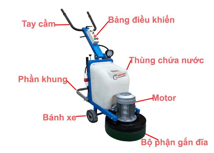 Cấu tạo máy mài sàn bê tông công nghiệp