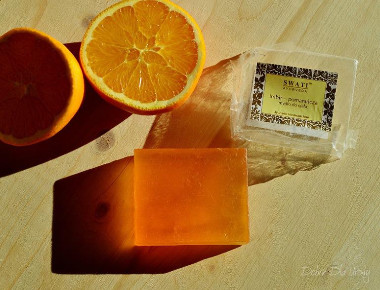Swati Ayurveda ajurwedyjskie Mydło imbir - pomarańcza