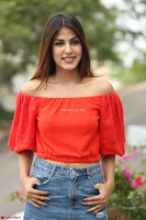 Rhea Chakraborty in Red Crop Top and Denim Shorts Spicy Pics ~  Exclusive 237.JPG