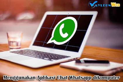 Chat seru menggunakan whatsapps di komputer atau laptop